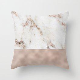 Monte Carlo marble Throw Pillow