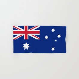 The National flag of Australia, authentic version (color & scale 1:2) Hand & Bath Towel
