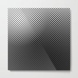 Metal Dotted Silver Metal Print