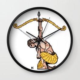 Arjuna Pixel Art Wall Clock