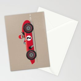 Retro Racing Car Red Stationery Cards
