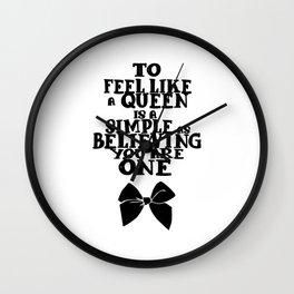 Be Queen Wall Clock