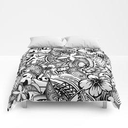 Hawaiian Polynesian Trbal Tatoo Print Comforters