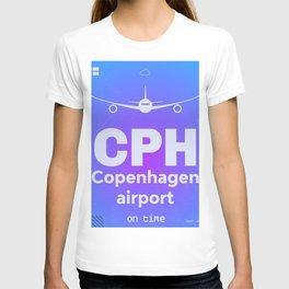 CPH Copenhagen airport blue T-shirt