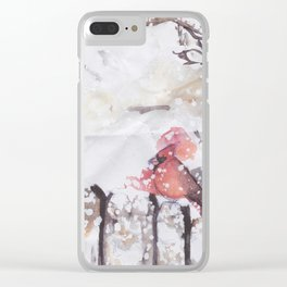 Cardinal Blood Clear iPhone Case