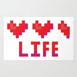 Cute 8 bit heart canister vector illustration. Art Print