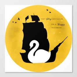 CAPTAIN SWAN (Yellow) Canvas Print