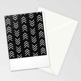 Charcoal & soft white brushed arrow heads, textured background Stationery Cards
