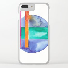 180818 Geometrical Watercolour 7| Colorful Abstract | Modern Watercolor Art Clear iPhone Case