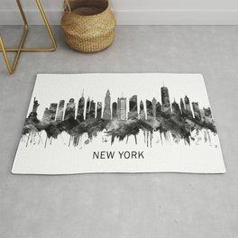 New York City Skyline BW Rug