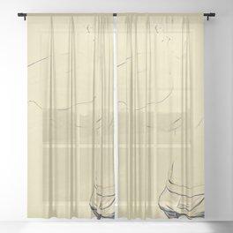 Ti Chiamo Marcelino Sheer Curtain