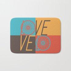 Love velo - velo love; cycling design Bath Mat
