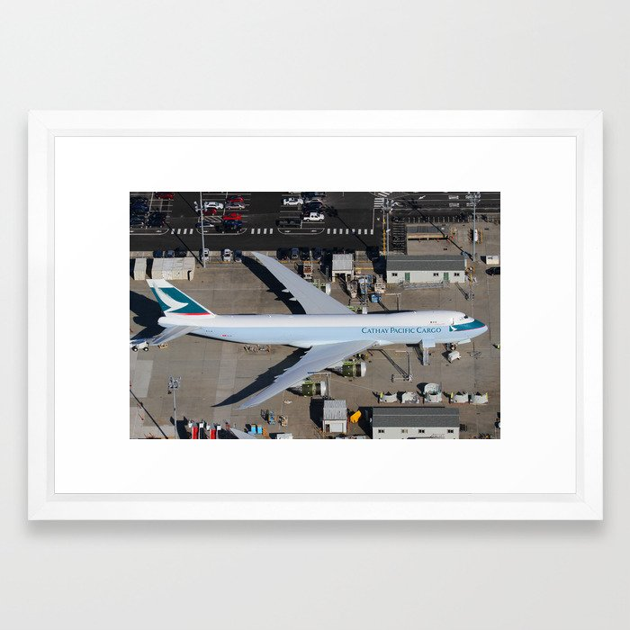 Cathay Pacific Cargo Boeing 747-8 Freighter Framed Art Print by ...