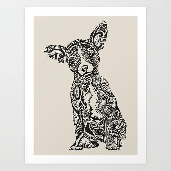 Polynesian Chihuahua Art Print by Huebucket | Society6