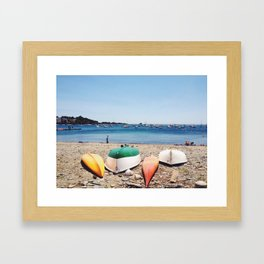Beached Boats Framed Art Print