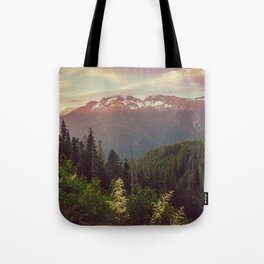 Mountain Sunset Bliss - Nature Photography Tote Bag