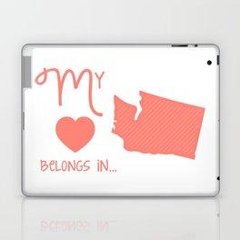 My Heart Belongs in Washington Laptop & iPad Skin