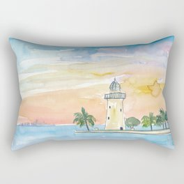 Boca Chita Key Biscayne Lighthouse Rectangular Pillow