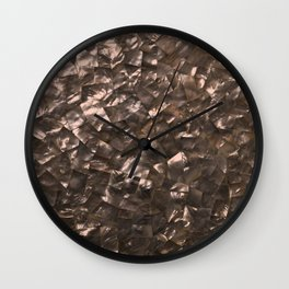 Glitter Rose Gold Shimmering Mother of Pearl Nacre Wall Clock