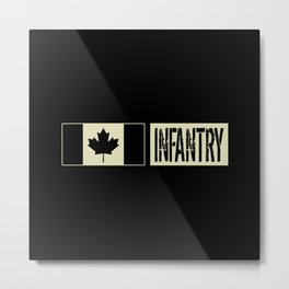 Canadian Military: Infantry (Black Flag) Metal Print