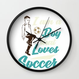 Soccerboy Wall Clock