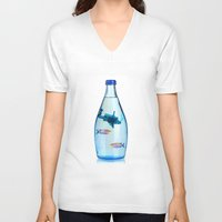 scuba V-neck T-shirts featuring Ella Scuba by HWDESIGN