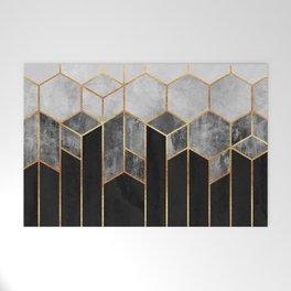 Charcoal Hexagons Welcome Mat