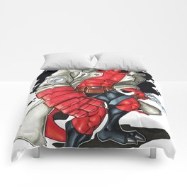 Red boy without horns Comforters