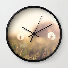 Dandelion Sun Wall Clock