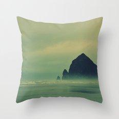 Haystack rock... Throw Pillow