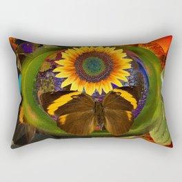 Butterfly and the Flower Rectangular Pillow