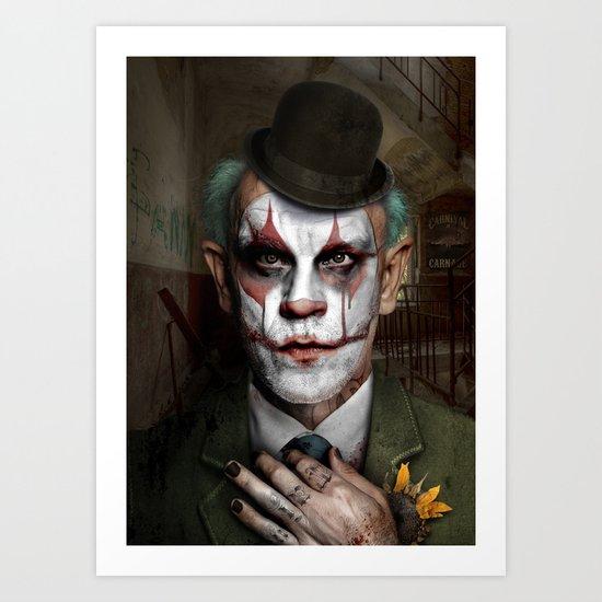 Clownavich Art Print