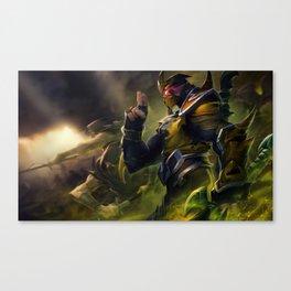 Yellow Jacket Shen Splash Art Wallpaper Background Official Art Artwork League of Legends lol Canvas Print