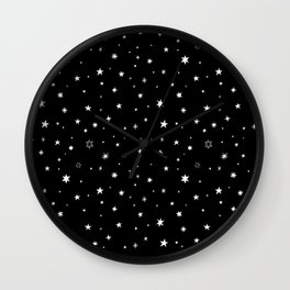 Stars in Night Sky Wall Clock