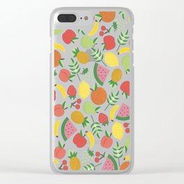 Summer Fruit Clear iPhone Case