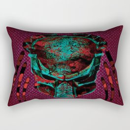 Soldier Predator Red Teal Rectangular Pillow