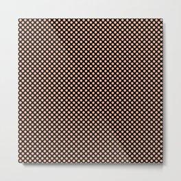 Black and Prairie Sunset Polka Dots Metal Print