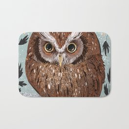 Painted Owl Bath Mat