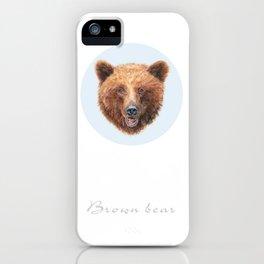 Brown Bear portrait iPhone Case