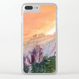 Morning Light On The Mountain Clear iPhone Case