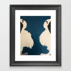 Split Birds Framed Art Print