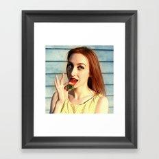 Strawberry Redhead Framed Art Print