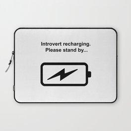 Introvert Batteries Recharging Laptop Sleeve