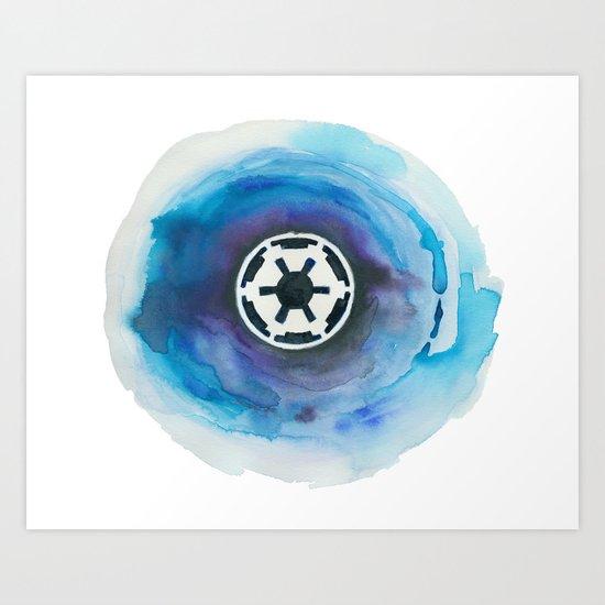 Star Wars Imperial Watercolor Painting Art Print