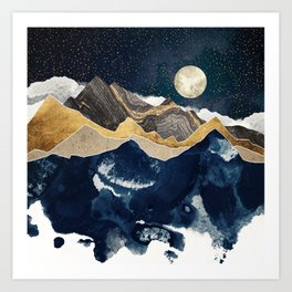 Midnight Winter Art Print