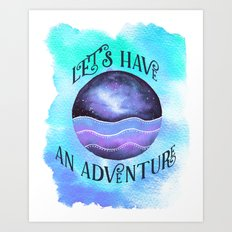 Let's Have an Adventure - Boho Wanderlust Watercolor Art Print