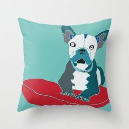 Rocki The Dog Throw Pillow