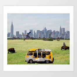 Cricket in the City Art Print