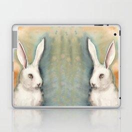 Portrait of a White Rabbit Laptop & iPad Skin