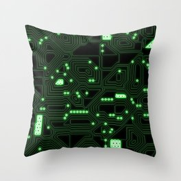 Computer Circuitry Throw Pillow